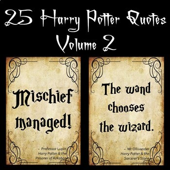 25 Harry Potter Quotes Volume 2 by The Board Room | TpT