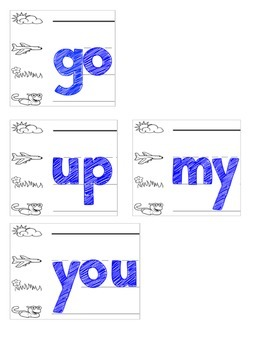 25 High Frequency Words (Fountas and Pinnell)