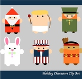 31 ~ Holiday Characters Clip Art for Personal and Commercial Use