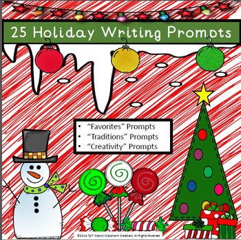 Winter Writing Prompts {Favorites, Traditions, Creativity}