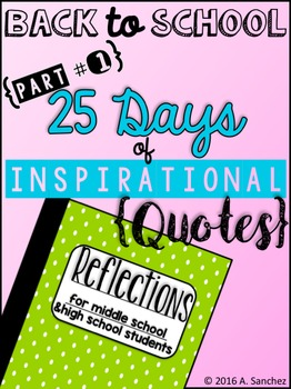 25 Inspirational Quotes for Reflection in ISNs: Part 1