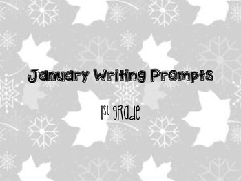 25 January themed writing prompts