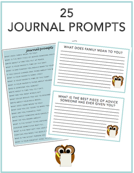 25 Journal Prompts