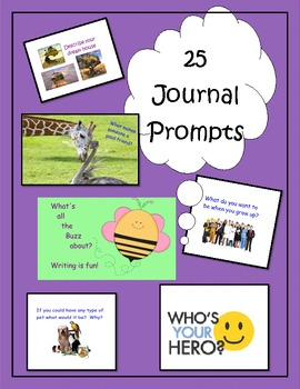 25 Journal Prompts for the SmartBoard