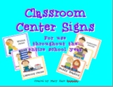 25 Kindergarten Classroom Center Signs