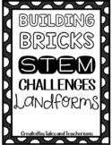 LEGO Challenges: 25 Building Blocks STEM / STEAM Landforms hands on activities!
