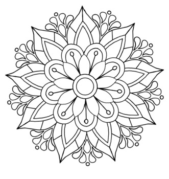25 Mandala Colouring In Pages