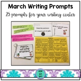 25 March Writing Prompts