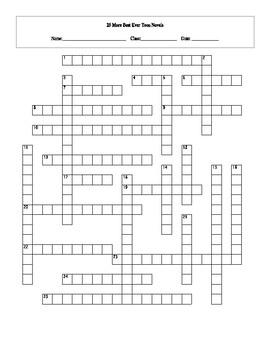 25 More Best Ever Teen Novels Crossword Worksheet and Key