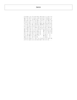 25 More Great Film Directors Word Search with Key