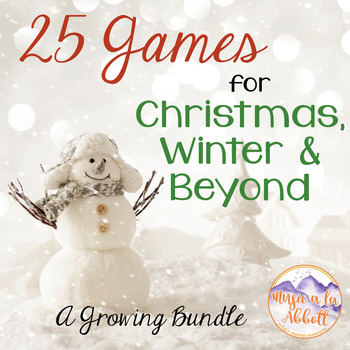 25 Music Games for Christmas, Winter and Beyond, 2016 {A Growing Bundle!}