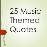 25 Music Themed Quotes