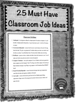 25 Must Have Classroom Job Ideas (with descriptions)
