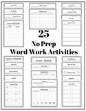 25 No Prep Word Work Activities