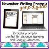 25 November Writing Prompts Gone Digital!