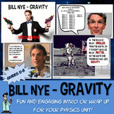 Bill Nye Gravity physics NO PREP worksheet PowerPoint TX TEKS 6.11 B
