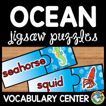 END OF YEAR ACTIVITY KINDERGARTEN (OCEAN ANIMALS VOCABULARY) SEA LIFE CREATURES)