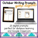 25 October Writing Prompts Gone Digital!