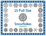 25 Original Full-Sized Snowflake Designs