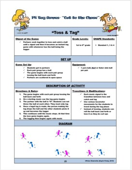 """PE Tag Games- """"Cut to the Chase"""""""