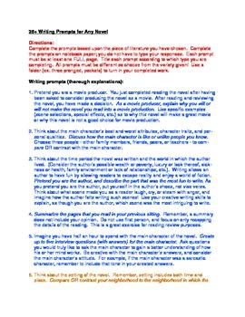 Generic essay prompts