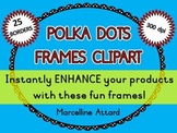 POLKA DOTS BORDERS AND FRAMES CLIPART (OVAL SHAPE)