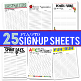 25 PTA/PTO Activity Sign Up Sheets
