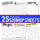 25 PTA/PTO Activity Sign Up Sheets
