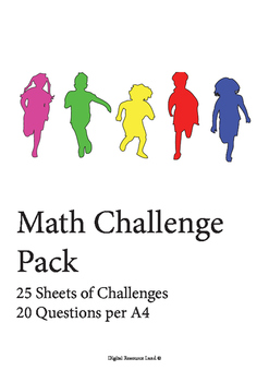 25 Pages of Math Challenges (20 Questions Each) with Answers