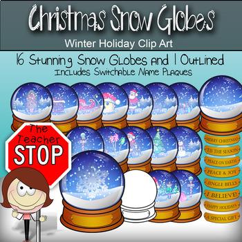 Christmas Holiday Snow Globe Set - 25 Globes {The Teacher Stop}