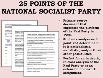 25 Points of the National Socialist Party - Global/World History