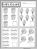 25 Preschool-KDG Math Worksheets. Addition, Counting, 10 Frame.