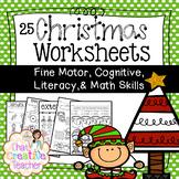 25 Preschool & Kindergarten Christmas Worksheets - Math & Literacy