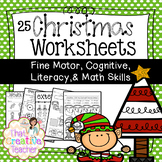 25 Preschool & Kindergarten Christmas Worksheets - Math & Literacy