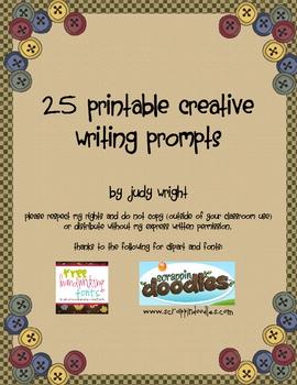 25 Printable Creative Writing Prompts