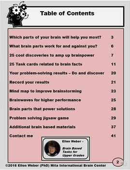 25 Problem Solver Brain Parts and Task Cards for Upper Grades