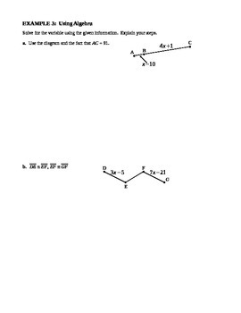 2.5 Proving Statements About Segments (A)