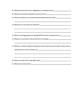 25 QUESTION COLLEGE RESEARCH PROJECT