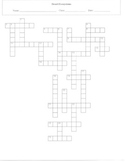 25 Question Desert Ecosystems Crossword Puzzle with Key