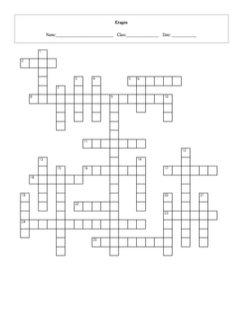 25 Question Eragon Crossword with Key