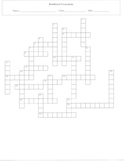 25 Question Rainforest Ecosystems Crossword Puzzle Worksheet with Key