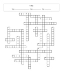 25 Question Twilight Crossword with Key
