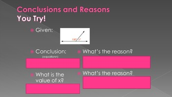 2.5 - Reasoning in Algebra and Geometry - Intro to Proofs Lesson PPT