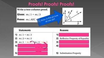 2 5 reasoning in algebra and geometry intro to proofs lesson ppt