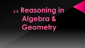 2.5 - Reasoning in Algebra and Geometry - Intro to Proofs