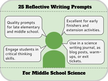 25 Reflective Writing Prompts for Middle School Science