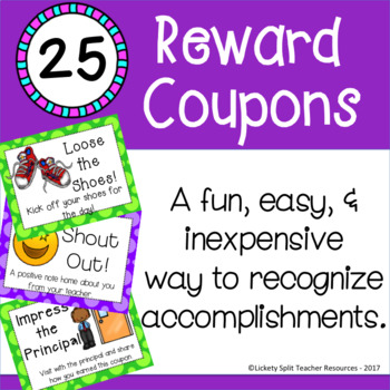 25 Reward Coupons - Easy, Fun & Inexpensive Incentives!