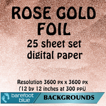 image about Printable Foil Paper referred to as 25 Rose Gold Electronic Papers, Superior-Answer Printable Backgrounds