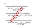 Set of 25 SI (metric) Unit Conversion Problems w/Ans Key *Editable*