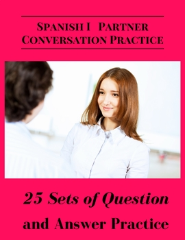 Spanish Partner Conversation Practice 25 Sets of Question and Answer Bundle Pack